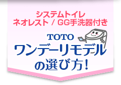 TOTO ワンデーリモデルの選び方