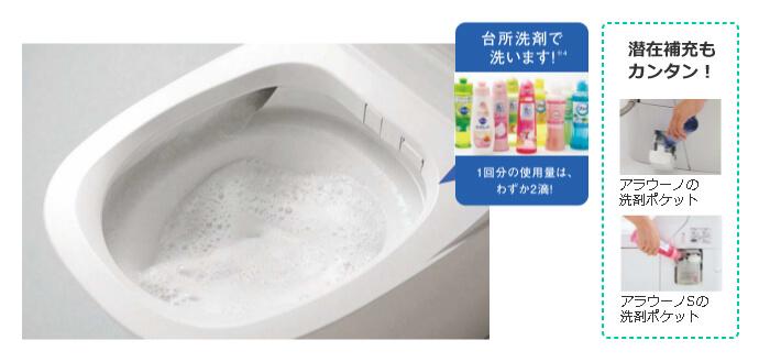 合成洗剤で洗います!1回分の使用量はわずか2滴!