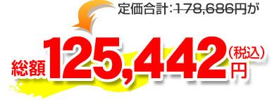 総額125,442円(税込)