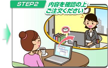 STEP2 内容を確認の上ご注文ください!