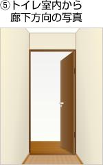 5.トイレ室内から廊下方向の写真